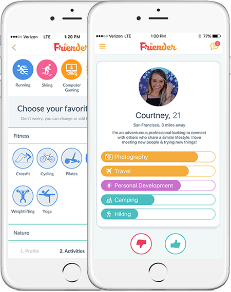 Friender - your life, connected. Meet new friends to do the things you love!
